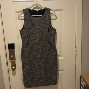 Jcrew women's navy tweed dress